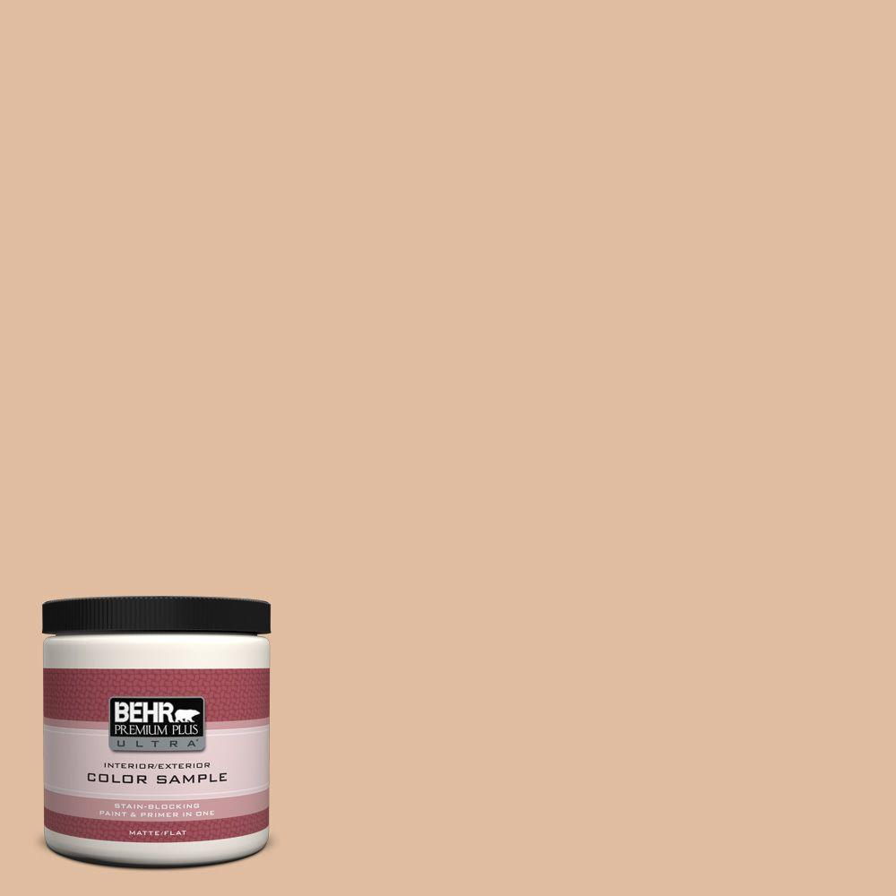 BEHR Premium Plus Ultra 8 oz. Home Decorators Collection Chic Peach Interior/Exterior Paint Sample
