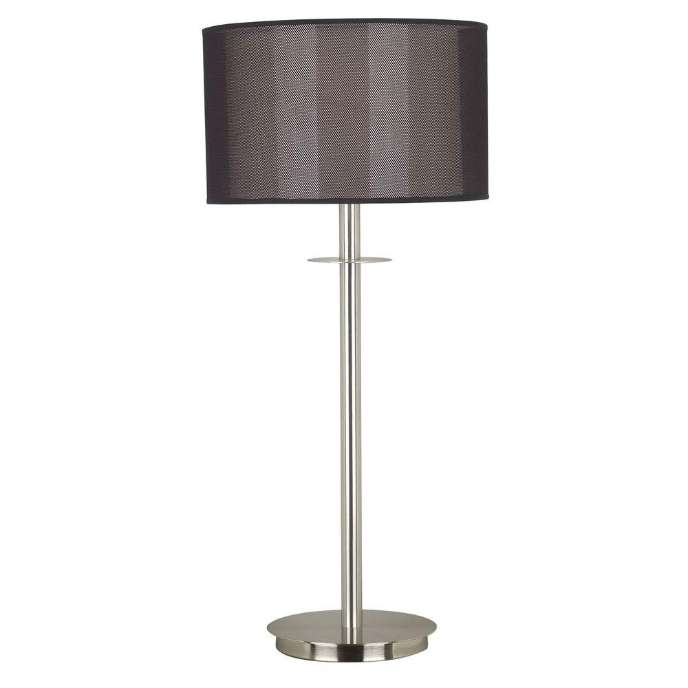 Kenroy Home Marlowe 28 in. Brushed Steel Table Lamp -DISCONTINUED