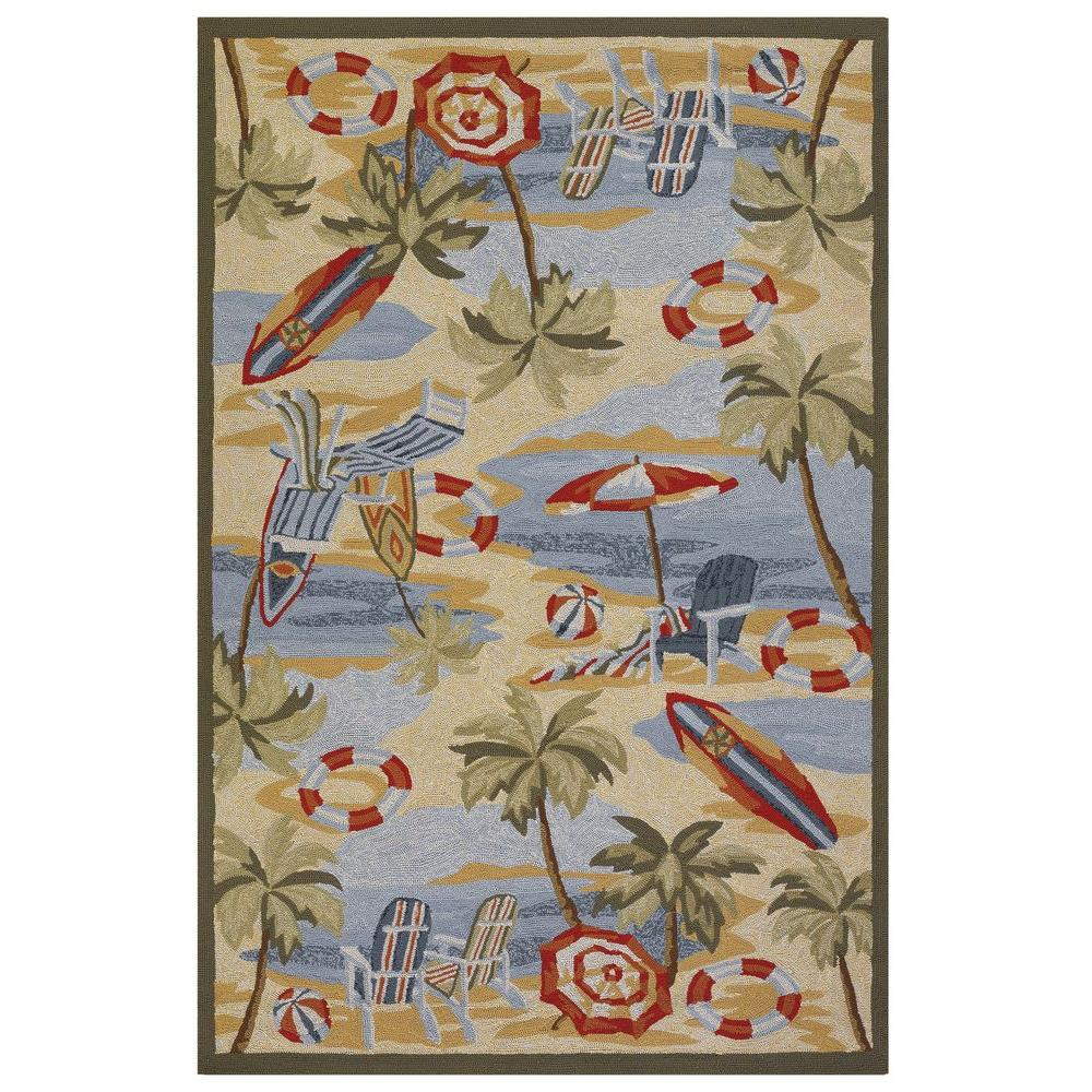 null Outdoor Escape Cocoa Beach Sand 5 ft. 6 in. x 8 ft. Area Rug