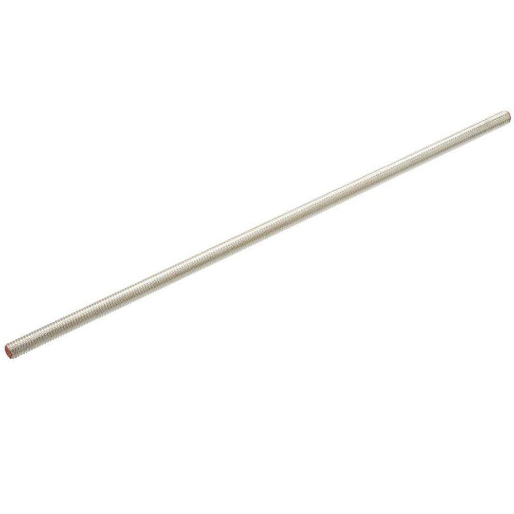 Everbilt 1/4 in. x 12 in. Zinc Threaded Rod