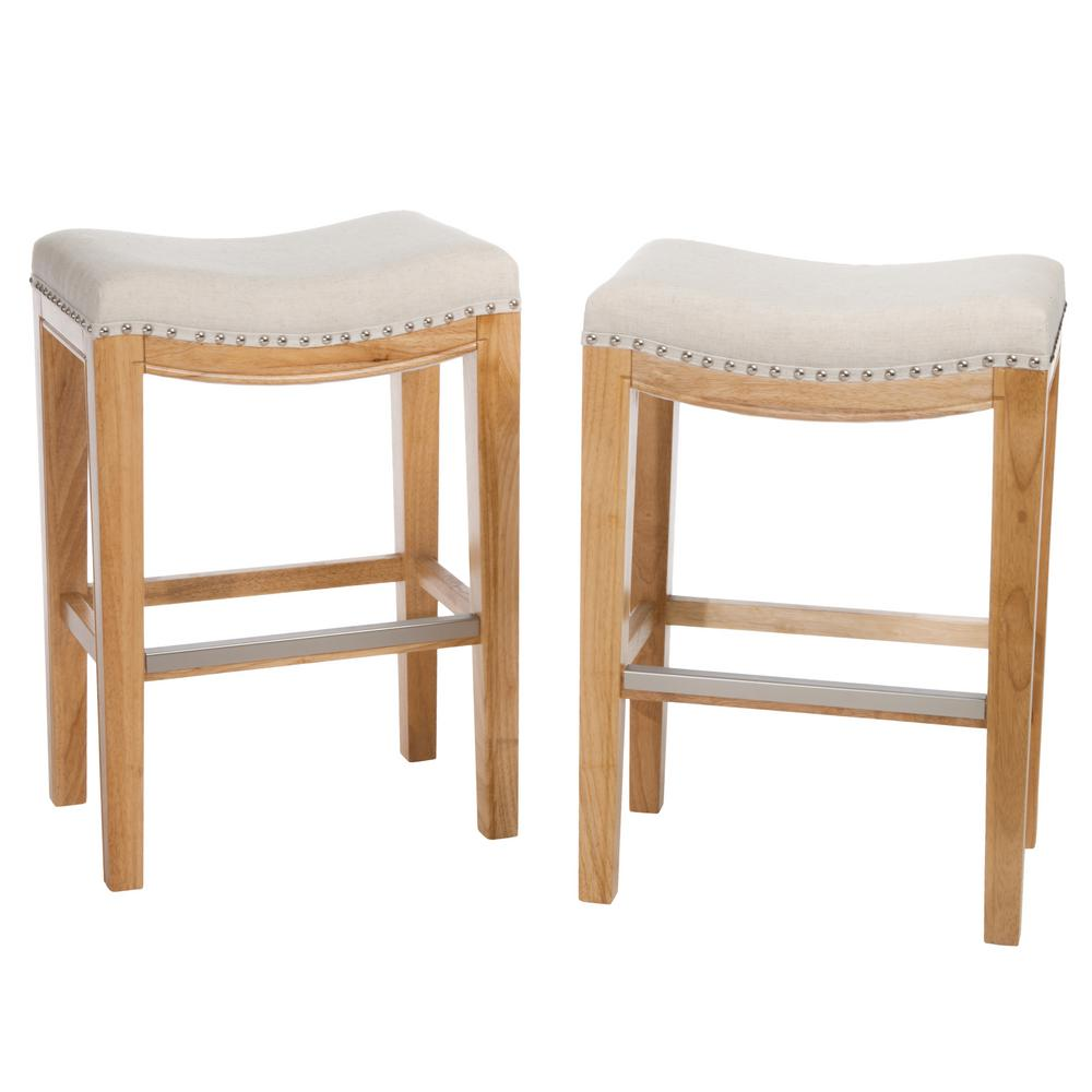 Avondale 26 in. Beige Backless Counter Stool (Set of 2), ...