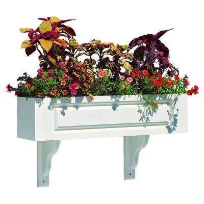Hampton Composite PVC Window Box - 72 in. (3 Brackets) by Lazy Hill Farm Designs