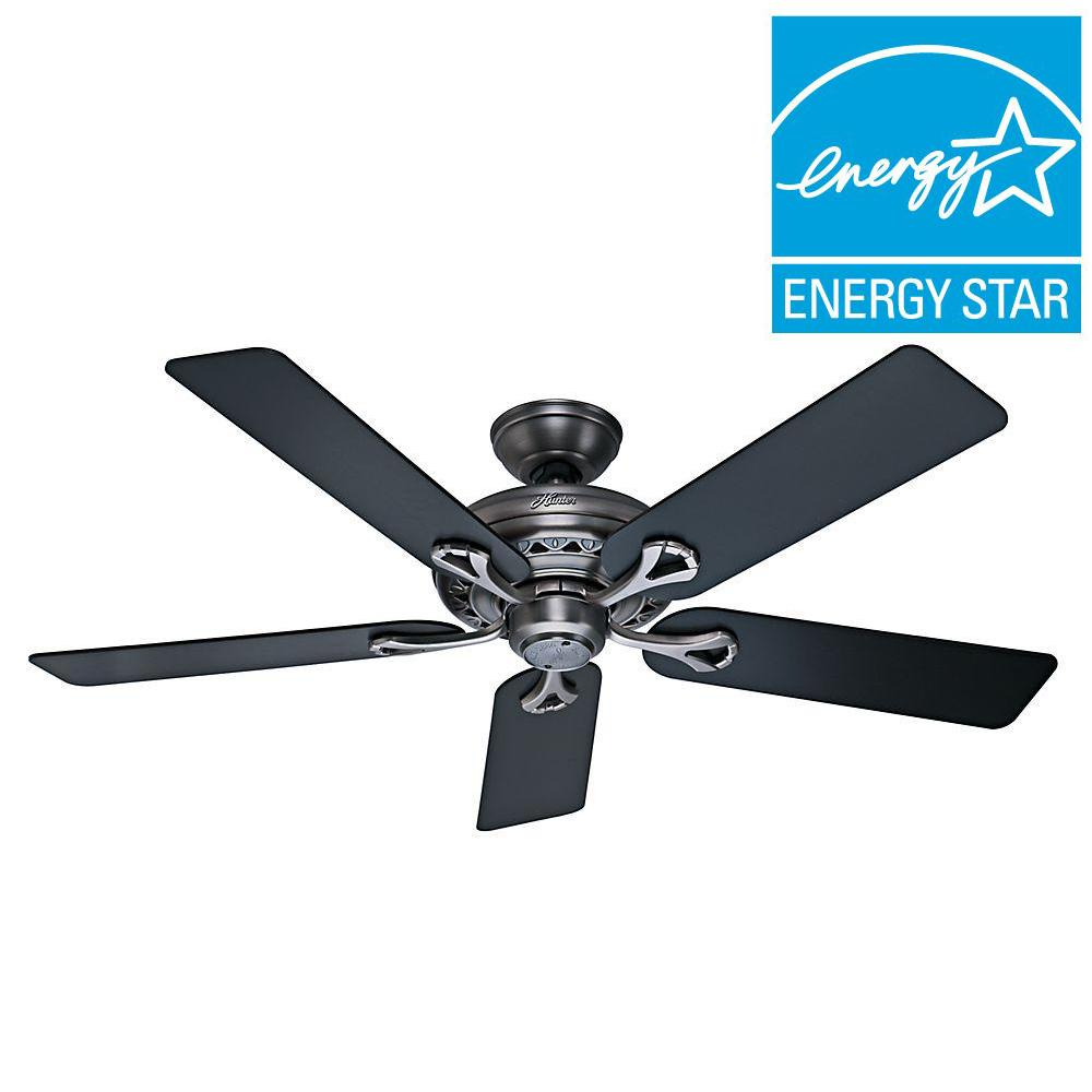 Hunter Savoy 52 in. Antique Pewter Ceiling Fan