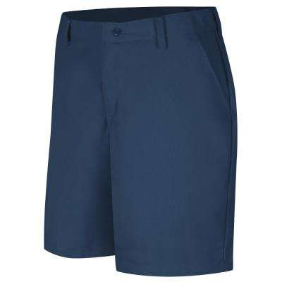 Women's Size 06 in. x 08 in. Navy Plain Front Short