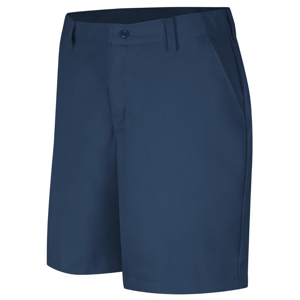 Women's Size 06 in. x 08 in. Navy Plain Front Short