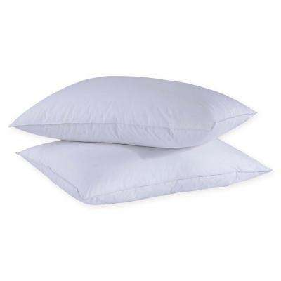 Puredown 50% Down and 50% Feather Twin Pack Standard and Queen White Pillow