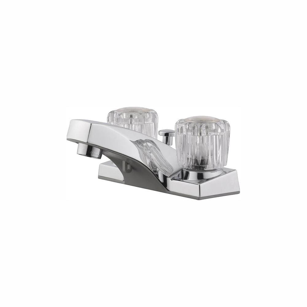 Design House Millbridge 4 in. Centerset 2-Handle Bathroom Faucet in Polished Chrome