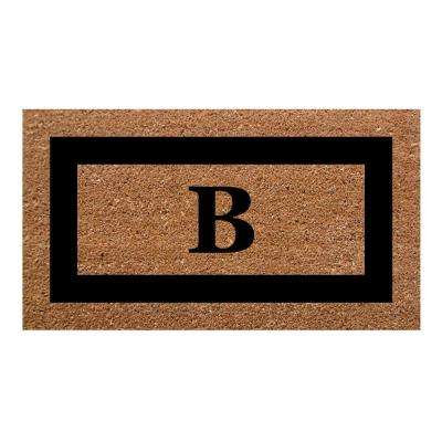 Single Picture Frame Black 20 in. x 36 in. SuperScraper Monogrammed B Door Mat