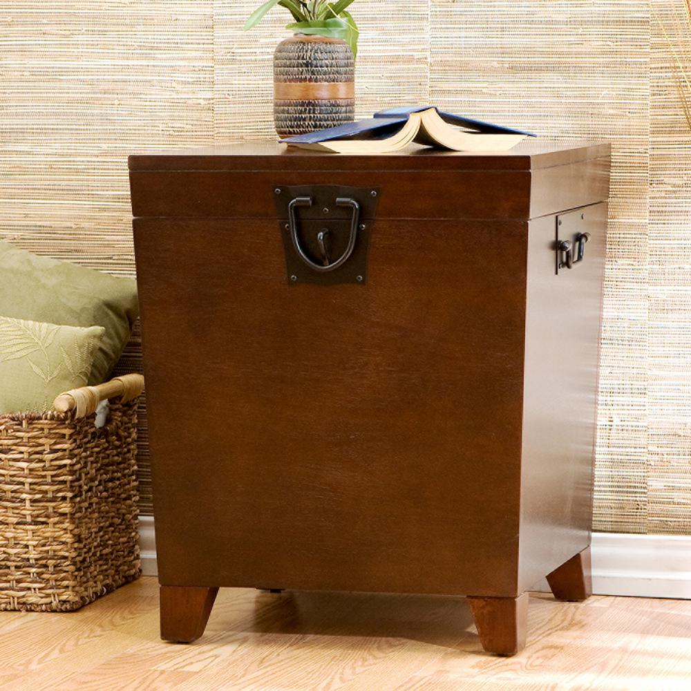 Ordinaire Southern Enterprises Pyramid Espresso Trunk End Table
