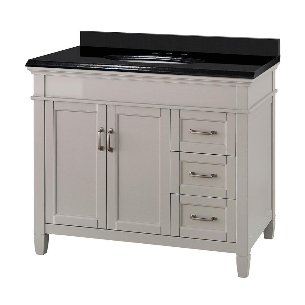 Foremost Ashburn 37 In W X 22 In D Vanity In Grey With