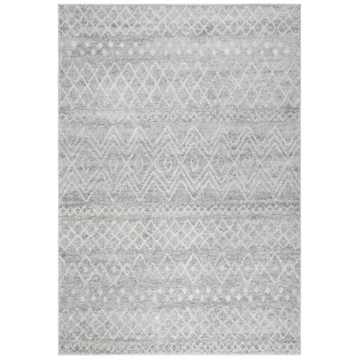 Madison Silver/Ivory 4 ft. x 6 ft. Area Rug