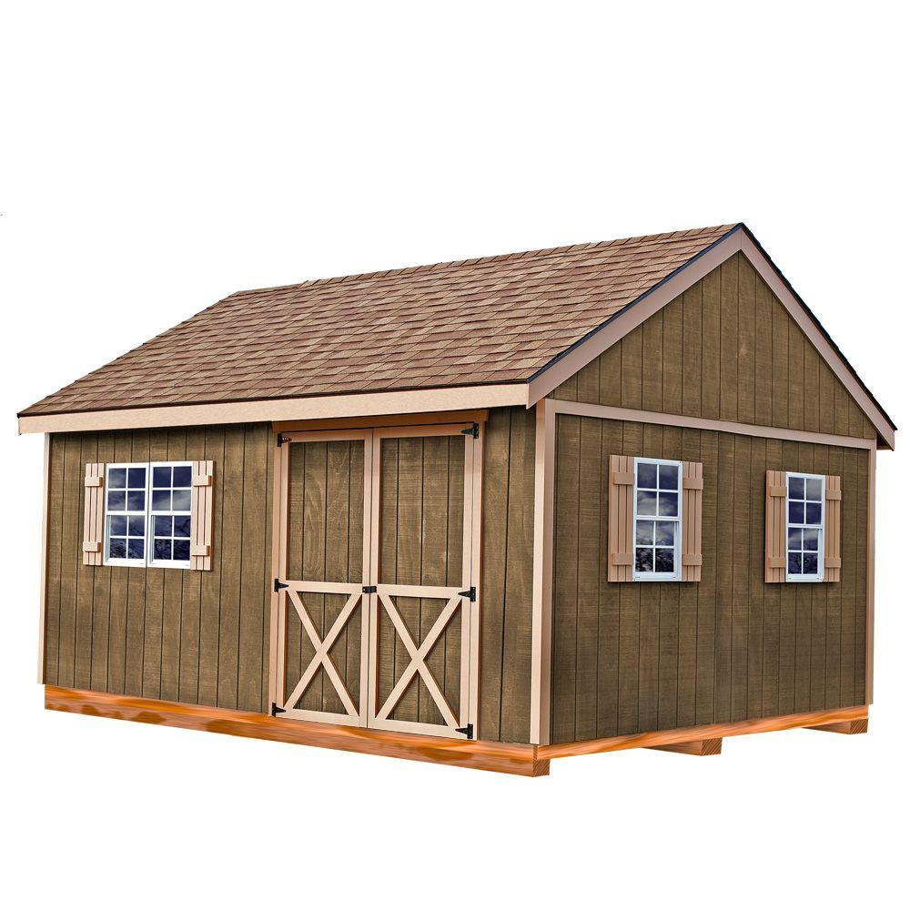 Best Barns New Castle 16 Ft. X 12 Ft. Wood Storage Shed Kit With