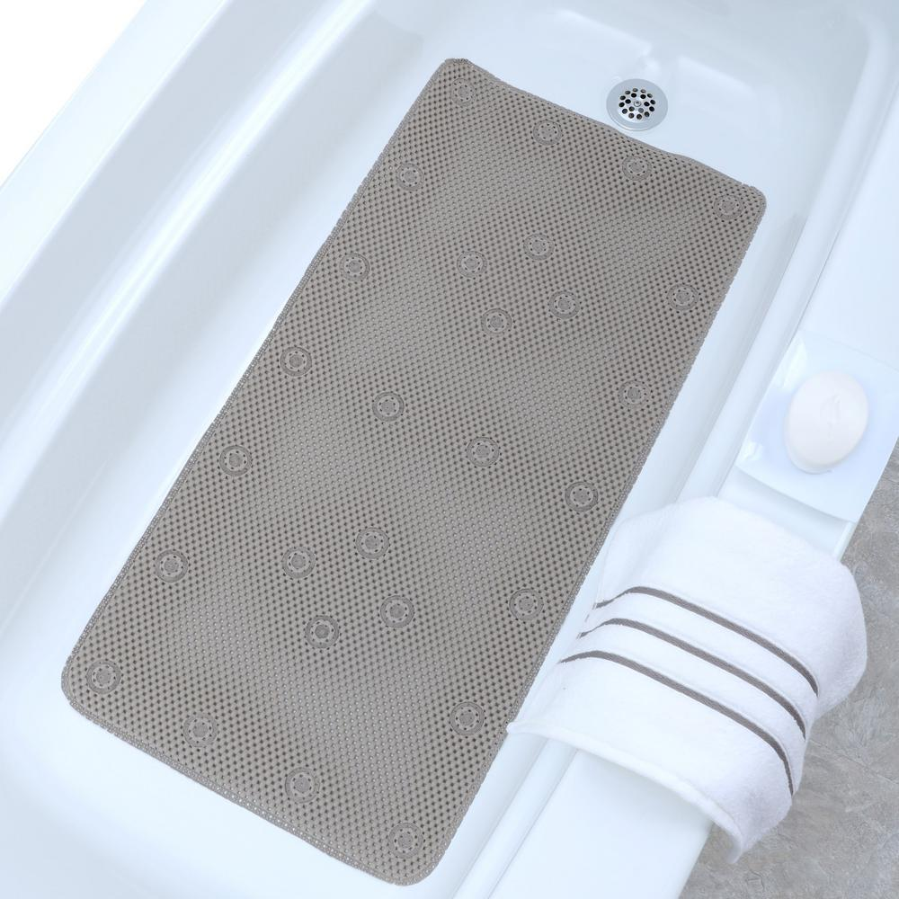 Slipx Solutions 17 In X 30 In Pebble Bath Mat In Gray