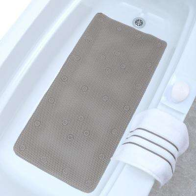 17 in. x 36 in. Comfort Foam Bath Mat in Tan
