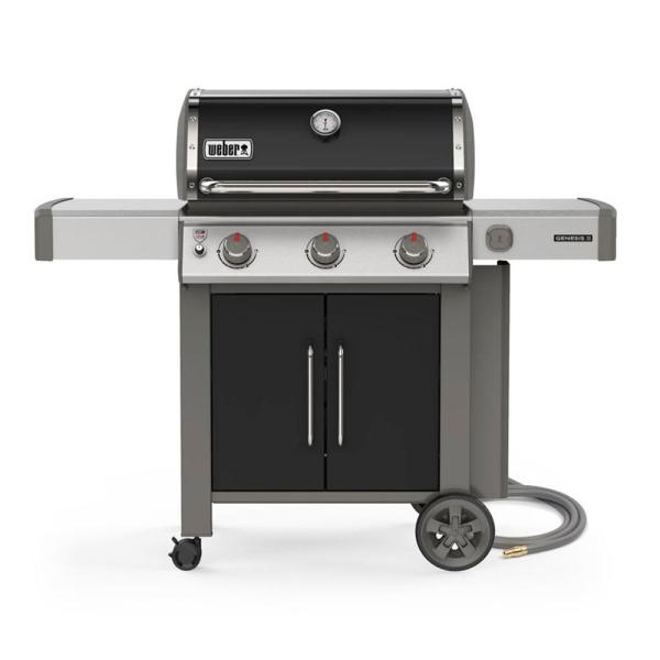 Genesis II E-315 3-Burner Natural Gas Grill in Black with Built-In Thermometer