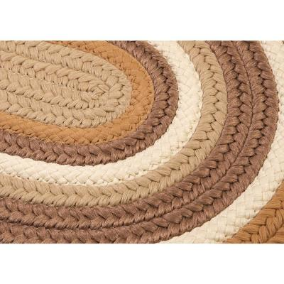 Frontier Gold 2 ft. x 12 ft. Braided Runner Rug