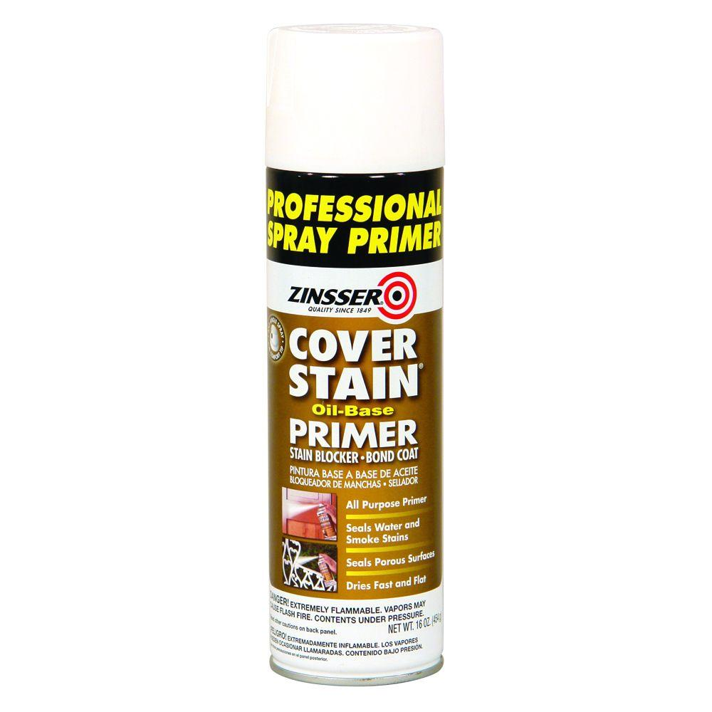 Zinsser Cover Stain 16 oz. White Oil-Based Interior/Exterior Professional Primer and Sealer Spray (6-Pack)