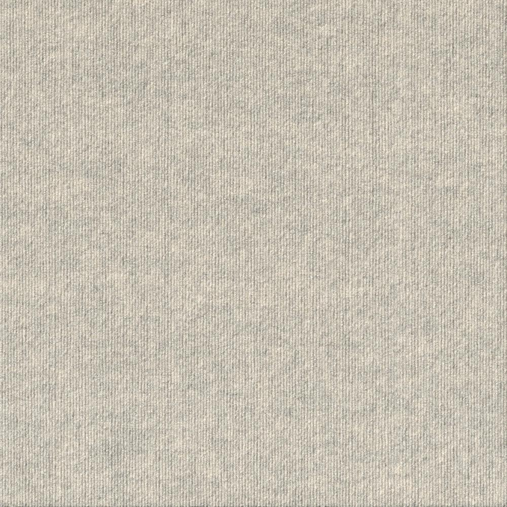 Foss Premium Self-Stick First Impressions Oatmeal Ribbed Texture 24 in. x 24 in. Carpet Tile (15 Tiles/Case)