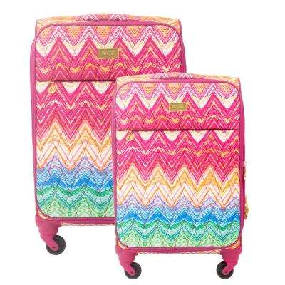 Chevron Soft Sided 2-Piece Luggage Set