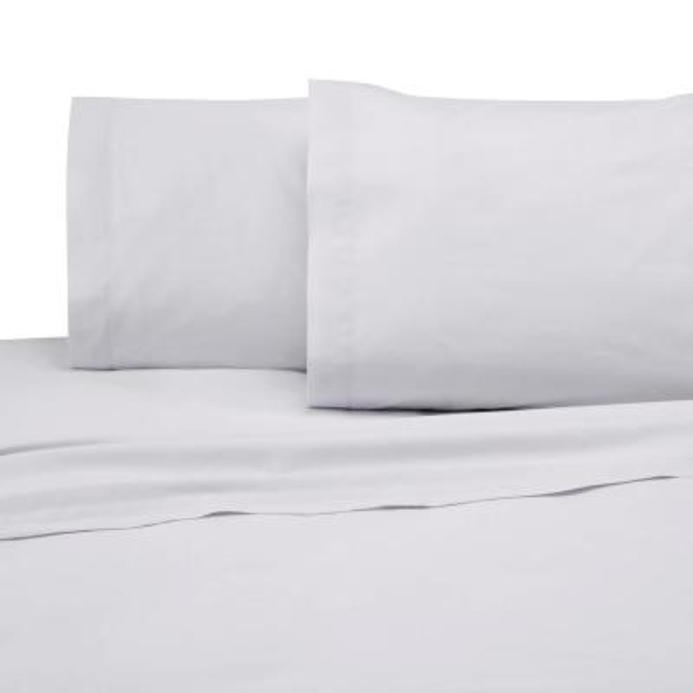 225 Thread Count White Cotton Twin XL Sheet Set