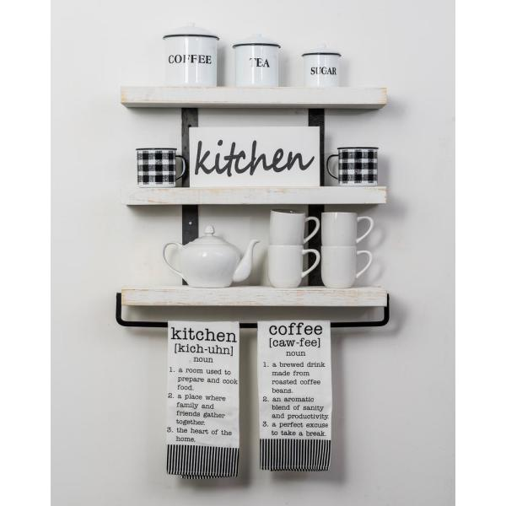Del Hutson Designs Industrial Grace 5.5in x 24in x 20in White