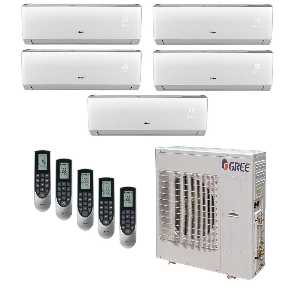 Gree multi 21 zone 39000 btu ductless mini split air for Ductless ac