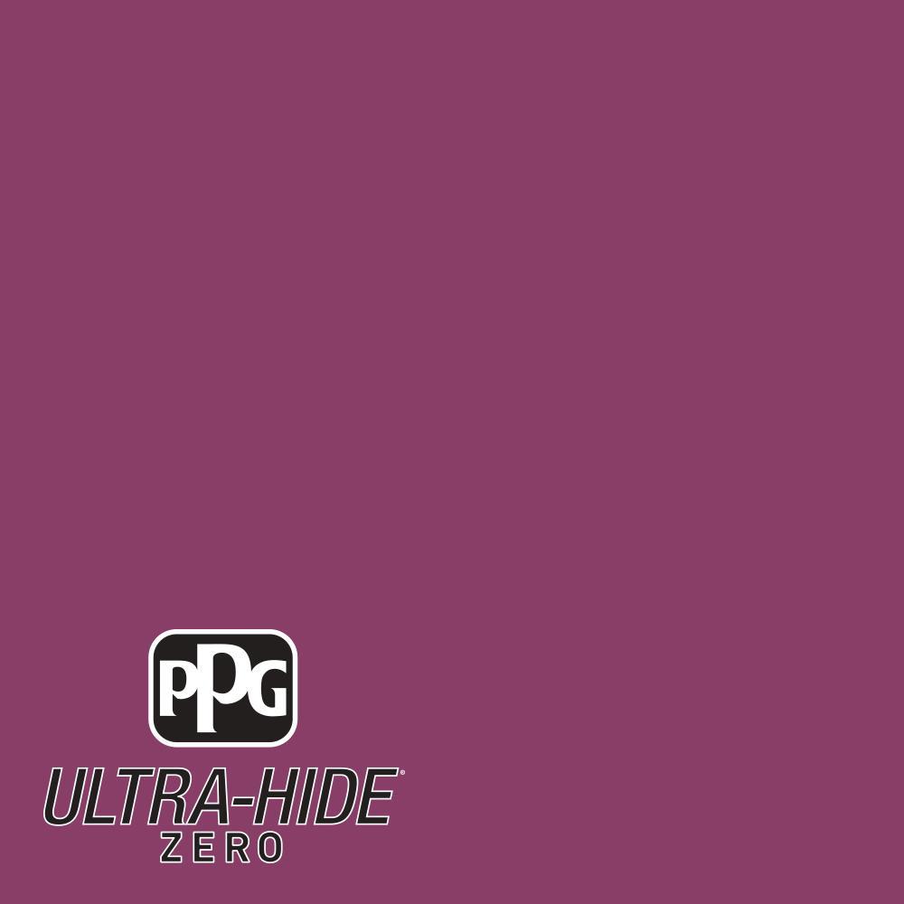 PPG 1 gal. #HDPR08 Ultra-Hide Zero Bright Black Raspberry Flat Interior Paint