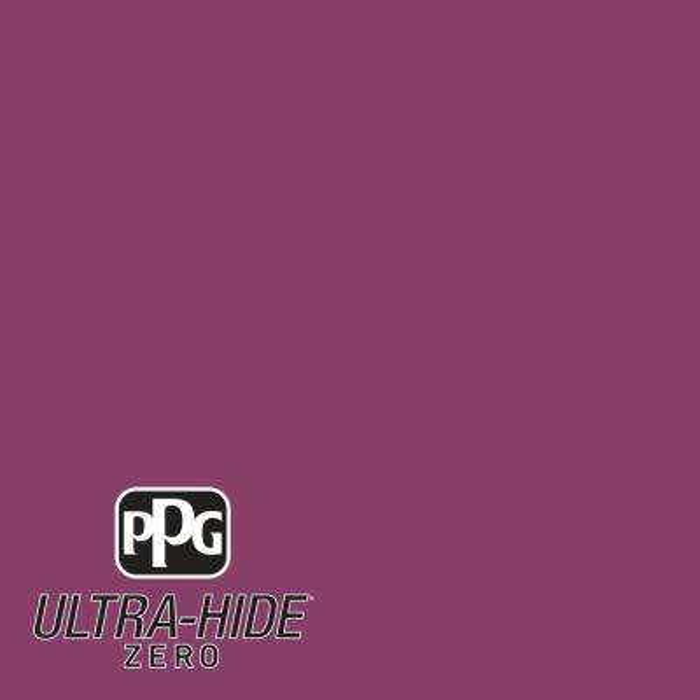 Hdpr08 Ultra Hide Zero Bright Black Raspberry Flat Interior Paint
