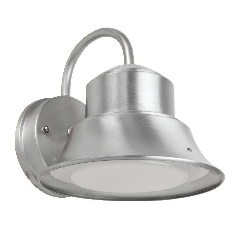 Feit Electric 8 in. 12-Watt Nickel Outdoor Integrated LED Bell Security Dusk to Dawn Sensor Area Wall Pack Light (4-Pack)