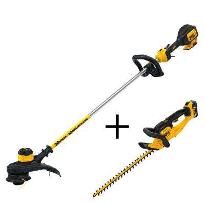 13 in. 20-Volt MAX Lithium-Ion Cordless Brushless String Trimmer with Bonus Hedge Trimmer, 5.0Ah Battery and Charger