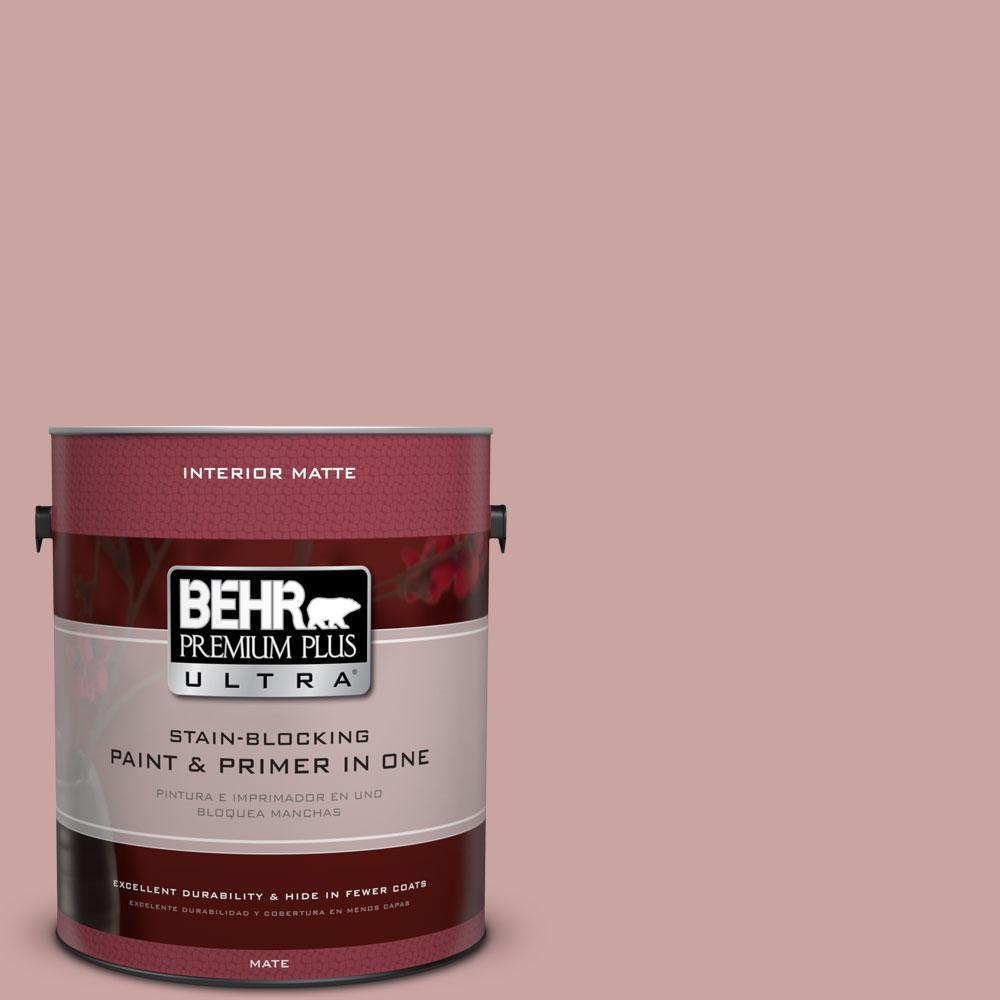 1 gal. #160E-3 Rose Potpourri Flat/Matte Interior Paint