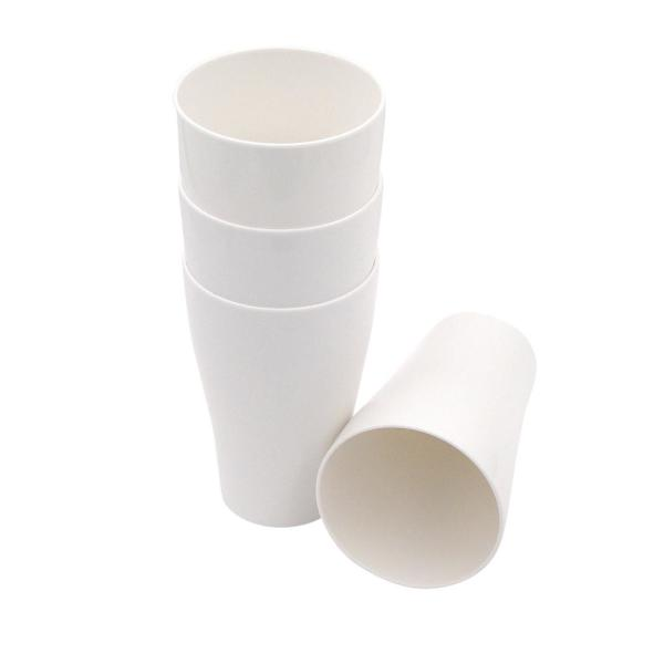 Ecosoulife 8-Piece 17 oz. White PLA Tall Cup PLA4002W