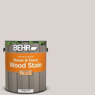 1 gal. #ECC-18-2 Pebbled Shore Solid Color House and Fence Exterior Wood Stain