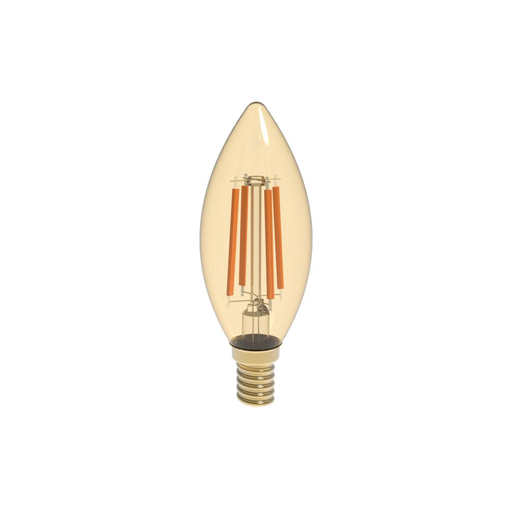 40W Equivalent Warm White (2400K) B10 Dimmable Amber LED Light Bulb