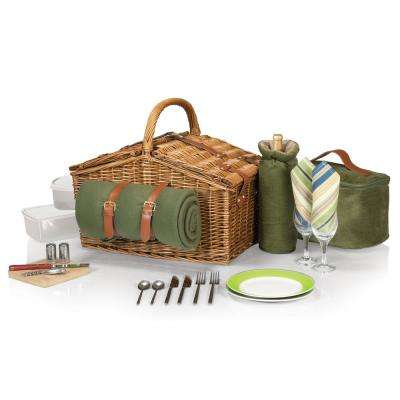 Somerset Sage Wood Picnic Basket