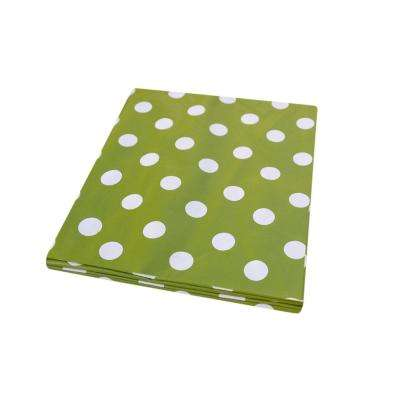 55 in. x 70 in. Indoor and Outdoor Green Polka Dot Design Tablecloth for Dining Table
