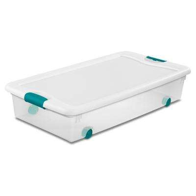 56 Qt Latching Wheeled Storage Box