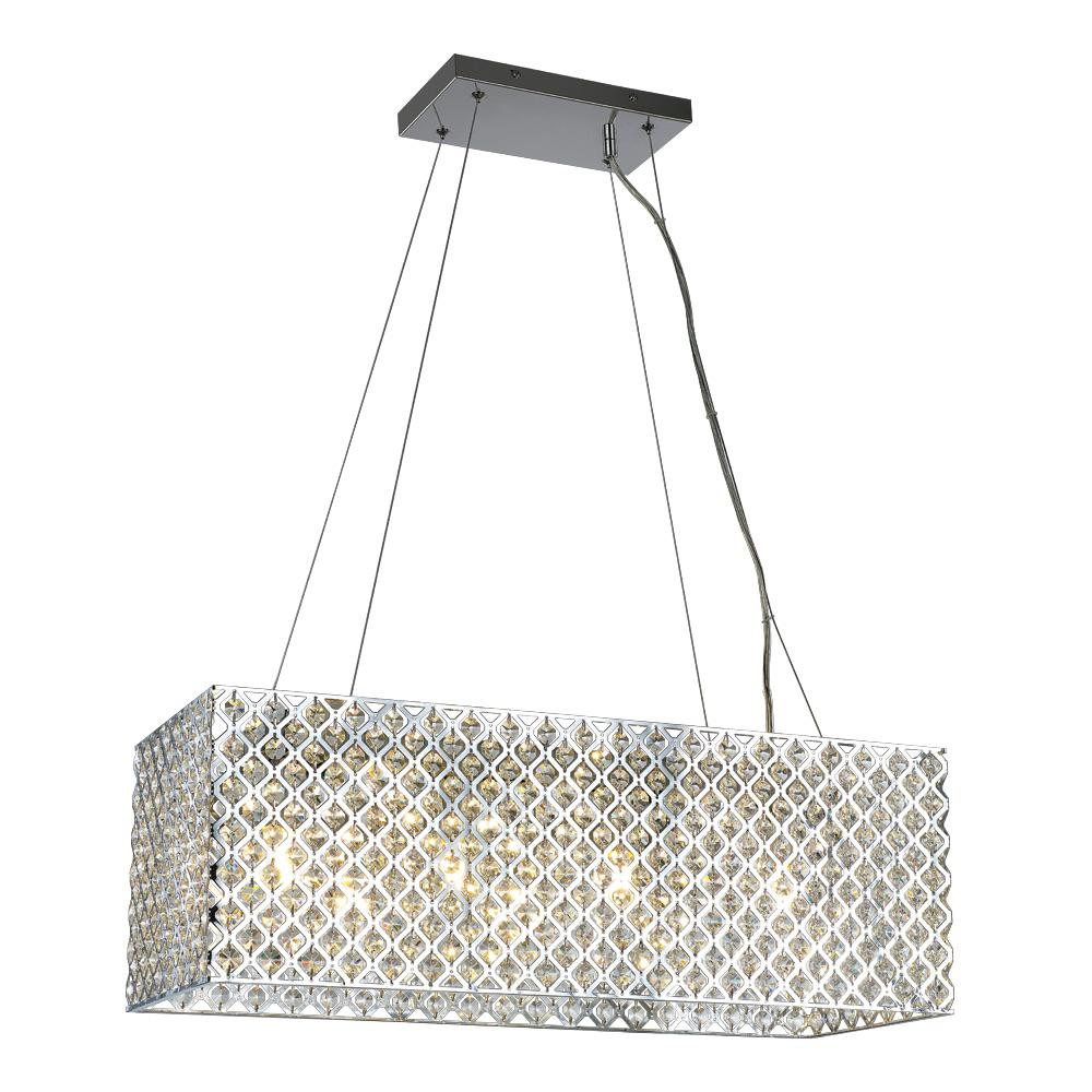 Decor Living Emily 4-Light Crystal and Chrome Chandelier was $159.0 now $99.0 (38.0% off)