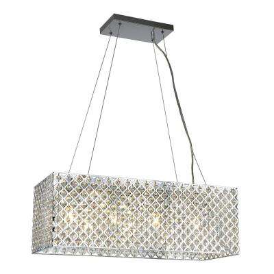 Emily 4-Light Crystal and Chrome Chandelier