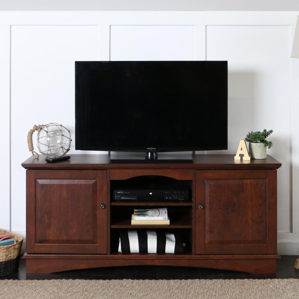 Walker Edison Furniture Company Jamestown Traditional Brown Entertainment Center Hdq60c73tb