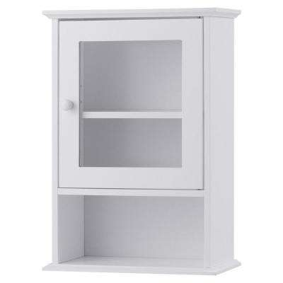 14 in. W Wall Mounted Storage Medicine Cabinet in White