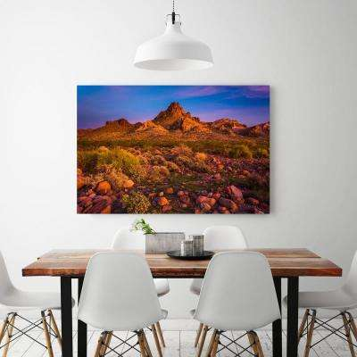 "24 in. x 36 in. ""Colorful desert sunset in Oatman, Arizona"" Printed Canvas Wall Art"