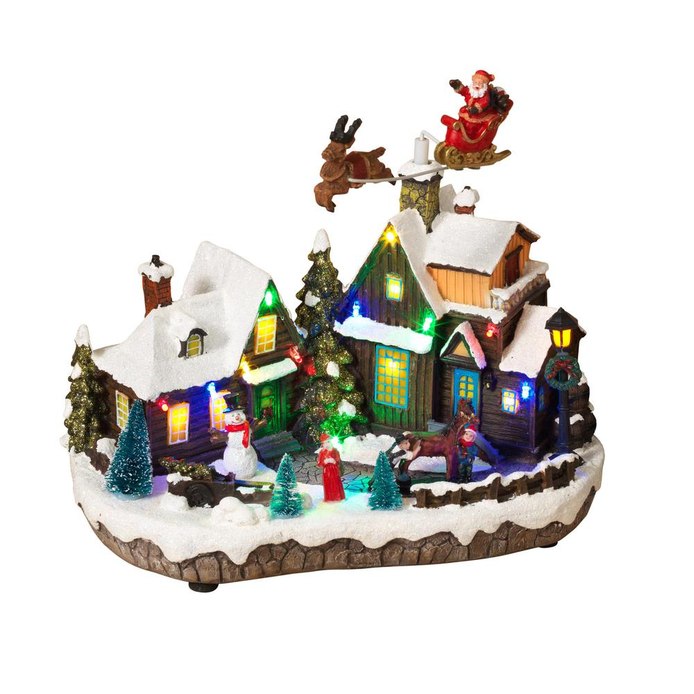 11.8 in. H Electric Lighted Holiday Village