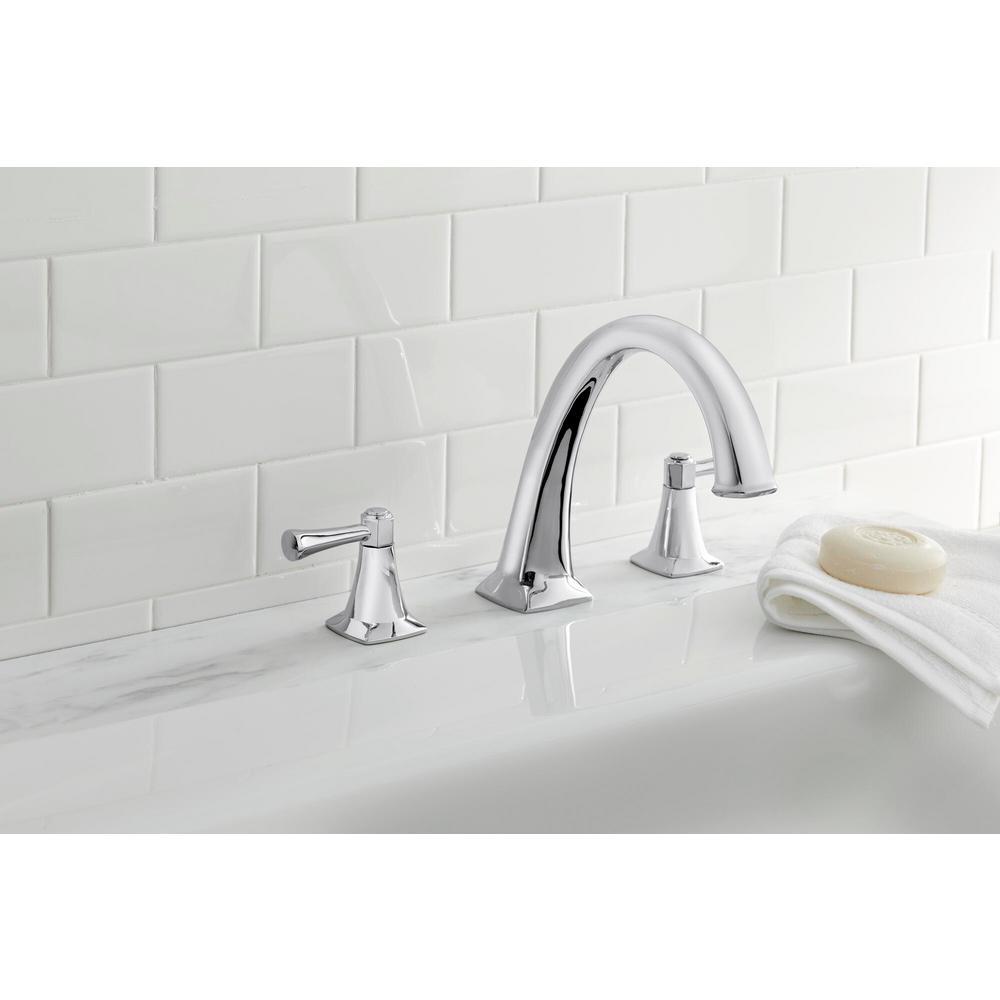Stillmore 2-Handle Deck-Mount Roman Tub Faucet in Chrome