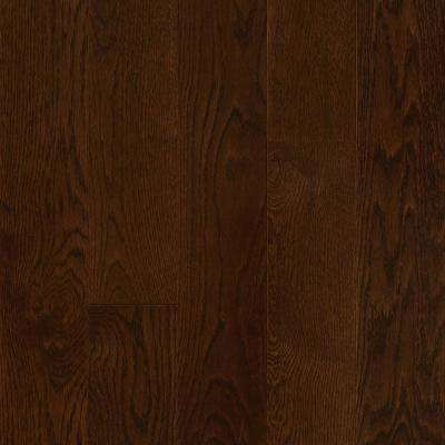 Plano Oak Mocha 3/4 in. Thick x 5 in. Wide x Varying Length Solid Hardwood Flooring (23.5 sq. ft. / case)