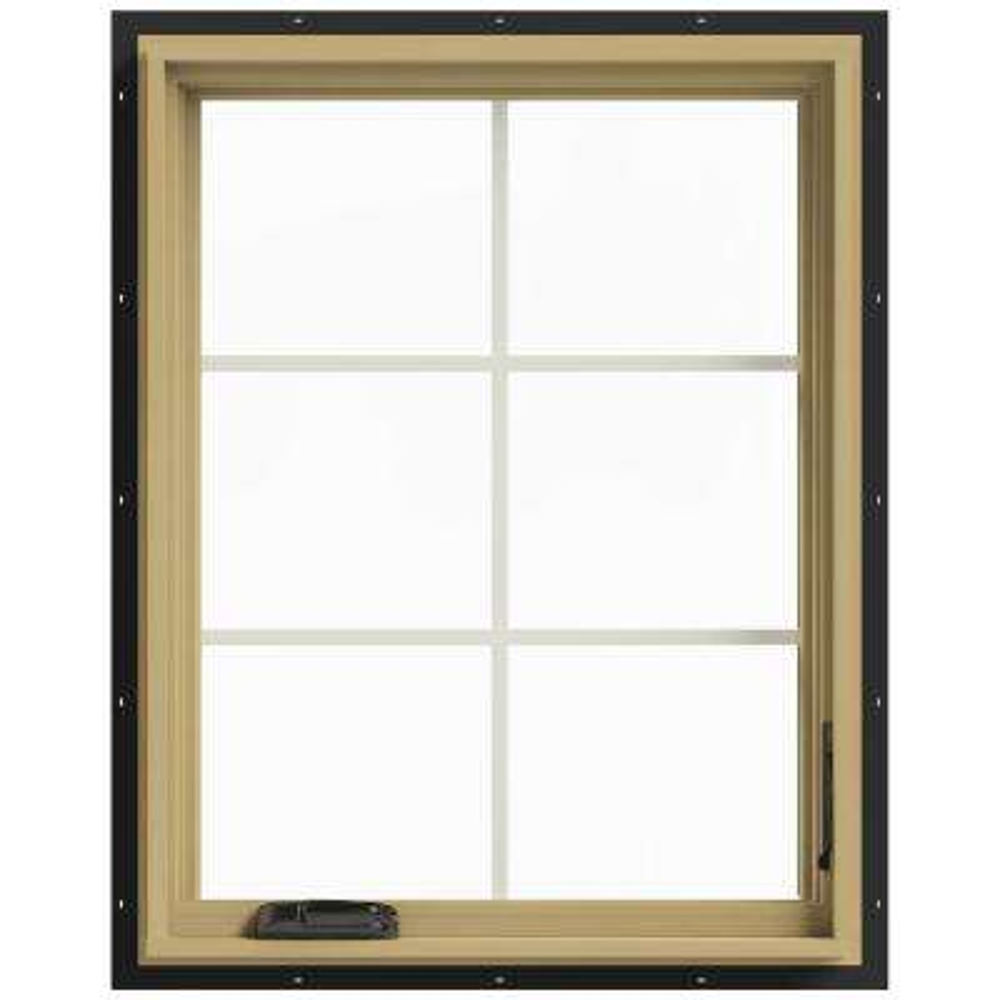 28 in. x 36 in. W-2500 Right Hand Casement Aluminum Clad Wood Window