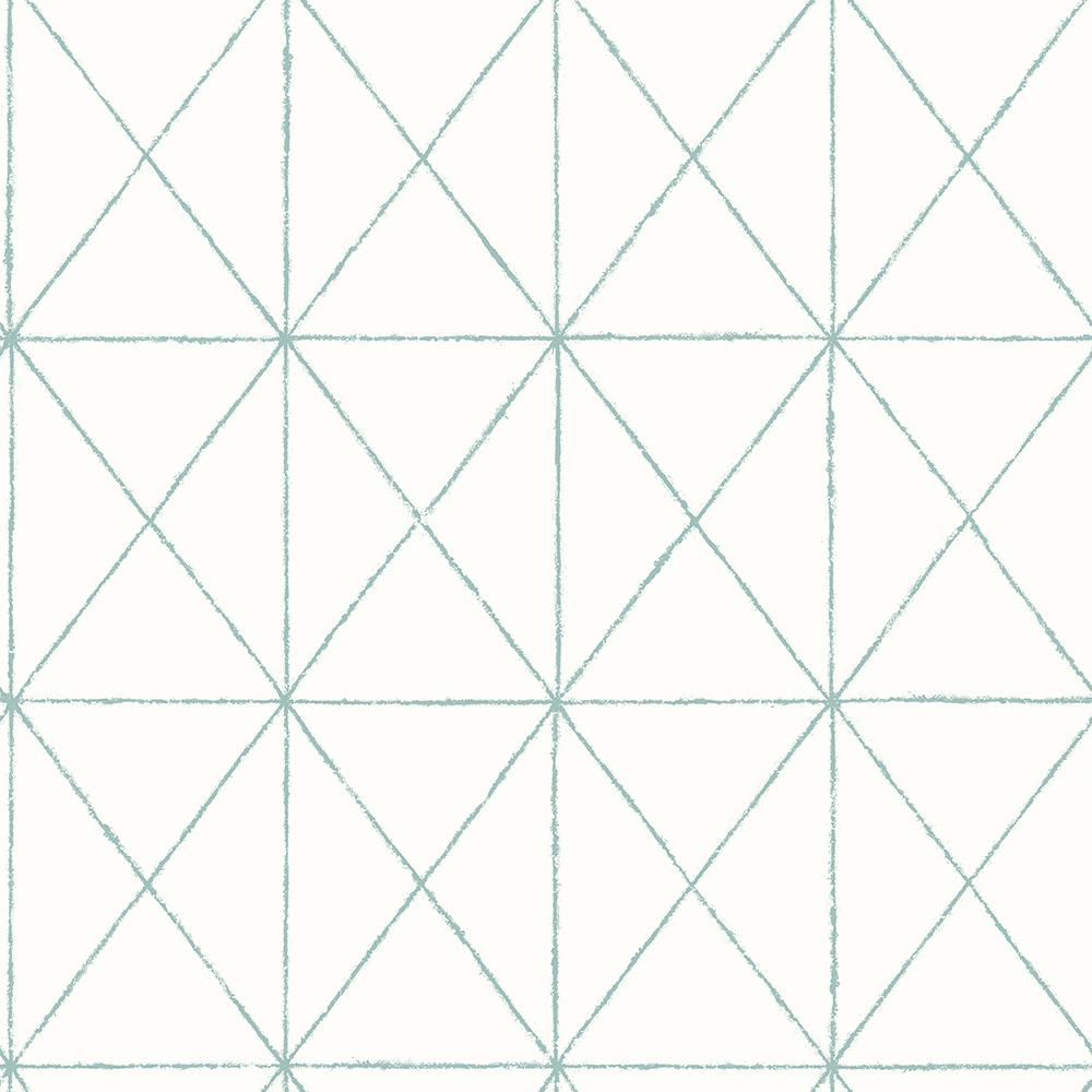 A Street Intersection Turquoise Geometric Wallpaper Sample 2697