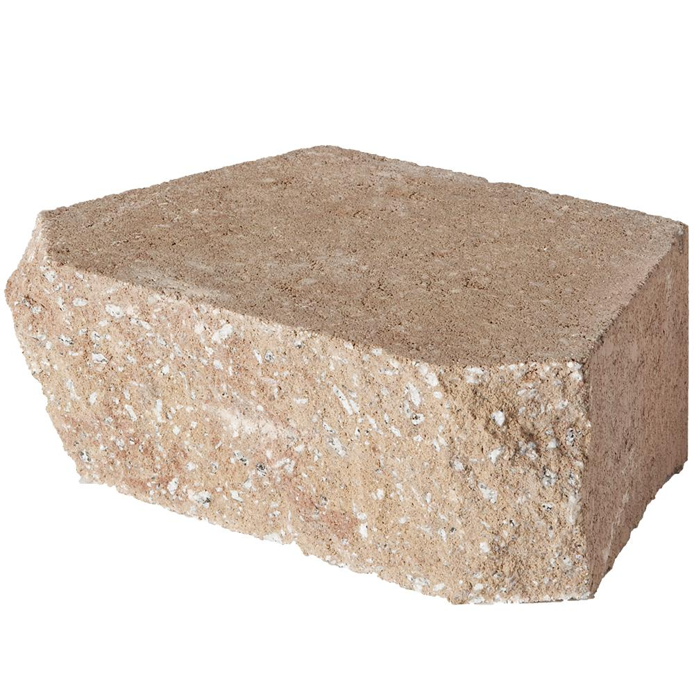 Pavestone 6.75 in. L x 11.63 in. W x 4 in. H Light Almond Retaining Wall Block (144 Pieces/ 46.6 Sq. ft./ Pallet)