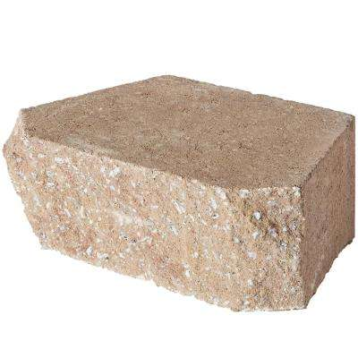 6.75 in. L x 11.63 in. W x 4 in. H Light Almond Retaining Wall Block (144 Pieces/ 46.6 Sq. ft./ Pallet)