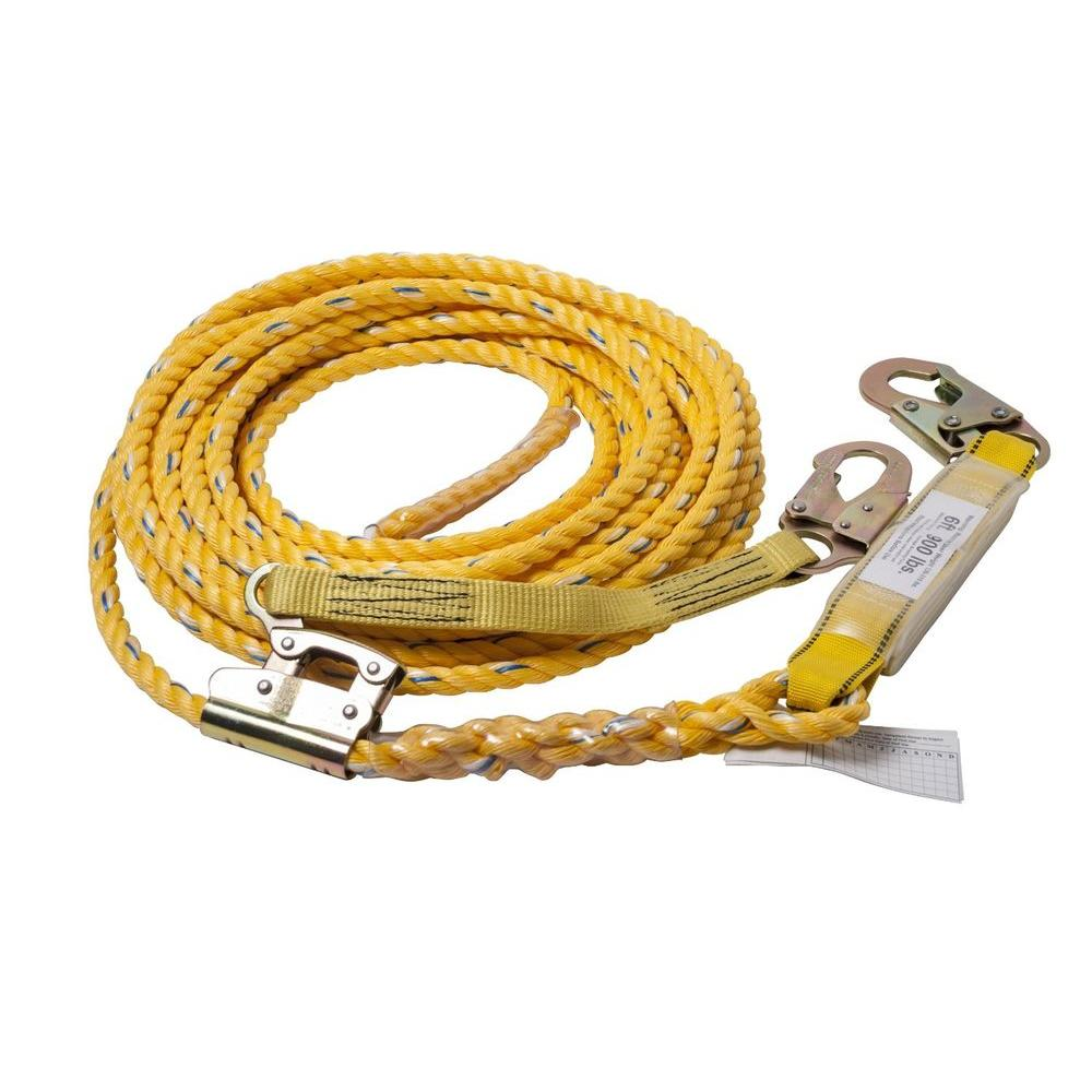 Guardian Fall Protection 100 ft. Poly Steel Vertical Lifeline Assembly Rope